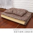 #贈同色記憶枕-學生床墊 單人床墊《豹紋竹面單人透氣床墊》-台客嚴選