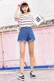 新款高腰牛仔大碼胖mm學生韓版百搭寬鬆闊腿超短褲女     時尚教主