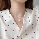 項錬輕奢小眾雙層珍珠項錬女潮森系氣質簡約鎖骨錬頸錬新年提前熱賣