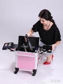 抖音同款高檔美發工具箱發型師專用拉桿箱子多功能理發剪發剪刀包ATF 三角衣櫃