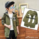 男童外套 童裝男童長袖男童數字11風衣處理 辛瑞拉