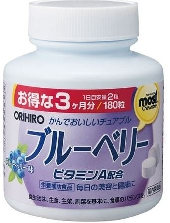 日本【ORIHIRO】MOST口嚼碇 藍莓180粒