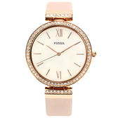 FOSSIL 珍珠貝水鑽真皮腕錶37mm(ES4537)270536