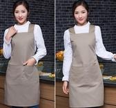圍裙韓版圍裙袖套可愛廚房圍裙工作服圍裙