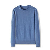 毛衣 秋冬裝圓領針織毛衣男士純色內搭長袖T恤打底衫青年修身潮流男裝 夢藝