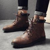 男鞋保暖棉鞋中筒男士雪地靴子韓版潮馬丁靴潮鞋 優家小鋪