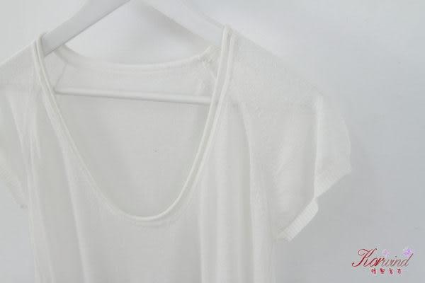 駝色字母設計長版針織上衣
