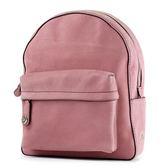 美國正品 COACH 專櫃款 亮粉仿舊皮革側邊置物後背包-玫瑰粉【現貨】