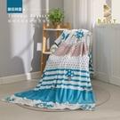 【BEST寢飾】法蘭絨空調毯 蘑菇精靈 130x190cm 毛毯 毯子 法萊絨毯 冷氣毯 四季毯