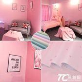 裝飾 少女心房間布置墻貼裝飾品防水粉色墻紙自粘臥室溫馨女孩貼紙壁紙