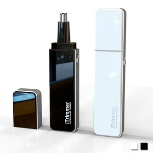 【PUSH! 居家用品】專利設計隨身碟型鼻毛修剪器電動鼻毛刀(I68)黑色