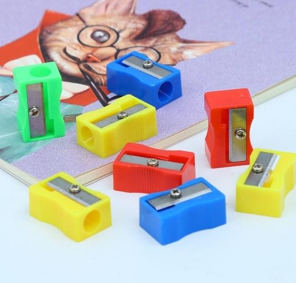 削鉛筆器SG475🇹🇼 單孔小卷筆刀紅黃藍綠色兒童小學生削鉛筆機小型手動塑料轉筆刀批發