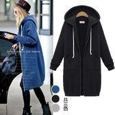 【韓國K.W.】(預購) 美式內刷毛日本衛衣拉鍊保暖連帽外套