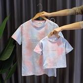 親子裝不一樣的親子裝T恤2021夏季新款個性洋氣一家三四口母子母女短袖 貝芙莉