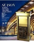 歐式大理石賓館酒店大堂帶煙灰缸方形不銹鋼垃圾桶大號立式CY 自由角落
