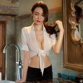 情趣內衣激情透視套裝sm騷小胸OL女秘書制服誘惑夜火干爹包臀裙