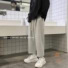 運動直筒長褲男韓版寬鬆休閒九分褲百搭衛褲【橘社小鎮】