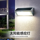 太陽能燈別墅LED室外壁燈庭院景觀感應燈戶外三合一防水家用路燈 【快速出貨】
