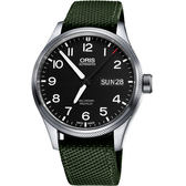 ORIS 豪利時 Big Crown ProPilot 日曆星期機械手錶-黑x墨綠錶帶/45mm 0175276984164-0752214FC