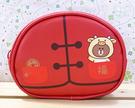 【震撼精品百貨】LINE FRIENDS_兔兔、熊大~熊大化妝包-紅*65210