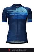 【亞特力士ATLAS】 男短袖車衣 30℃~38℃ JR-114-BU 競技款蜂太版 -疾速藍