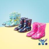 兒童雨鞋防滑防水加厚耐磨可愛水鞋男女童小童【古怪舍】