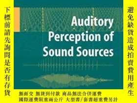 二手書博民逛書店Auditory罕見Perception Of Sound Sources (springer Handbook
