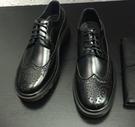 韓國  歐美訂製 走秀鞋款 高品質 馬丁 雕花 皮鞋  低筒