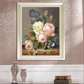 3D 十字繡新品客廳線繡臥室小幅花卉歐式油畫牡丹花簡約 ~ 八五折~