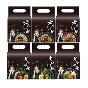 《老媽拌麵》6種口味任選4袋四川麻辣*2+蔥油開洋*2