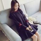 針織洋裝2019新款秋冬大碼女裝荷葉邊寬鬆魚尾針織毛衣打底連身裙顯瘦遮肉YJ3529『東京衣社』