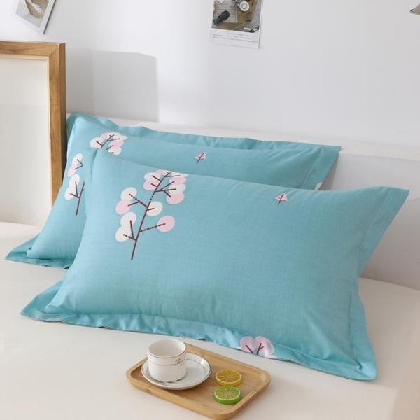 一對裝 全純色枕套水洗棉成人枕頭套單人卡通枕芯套【倪醬小鋪】