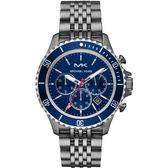 Michael Kors 城市菁英計時手錶-藍x灰 44mm MK8727