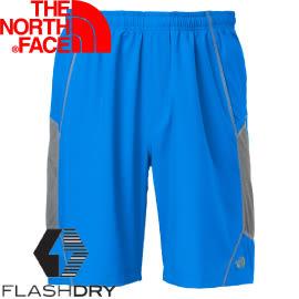 【The North Face 男款 FLASHDRY 9吋短褲 藍/灰】 0A2RGS/休閒褲★滿額送