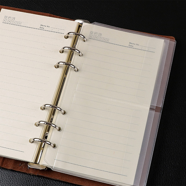 【BlueCat】文件夾6孔活頁磨砂二格收納袋 (A6)
