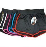 【KP】運動短褲 亮色滾邊 撞色 吸濕排汗 運動休閒 彈力 透氣 短褲 DTT100007965