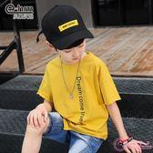童裝男童字母印花短袖t恤2019夏裝新款中大兒童半袖衫潮
