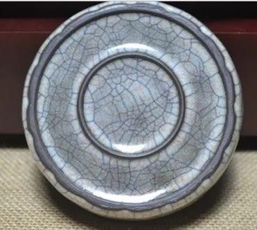 [協貿國際]  青瓷金絲鐵線牡丹洗 (1入)