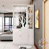 屏風櫃進門玄關櫃隔斷櫃入戶鞋櫃雙面現代簡約客廳屏風裝飾櫃門廳櫃酒櫃XW