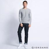 GIORDANO 男裝水洗基本款中腰錐形牛仔褲-50 水洗藍