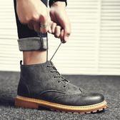 冬季新款馬丁靴男短靴韓版高幫棉靴皮靴男士保暖雪地靴英倫工裝靴 雲雨尚品