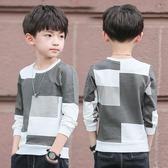 男童T恤 男童春秋T恤長袖新款中大童圓領上衣兒童長袖體恤秋裝打底衫 雙11最後一天八折