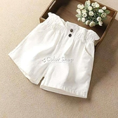 女童短褲夏2021新款洋氣女大童牛仔短褲薄款兒童白色褲子夏季外穿 快速出貨