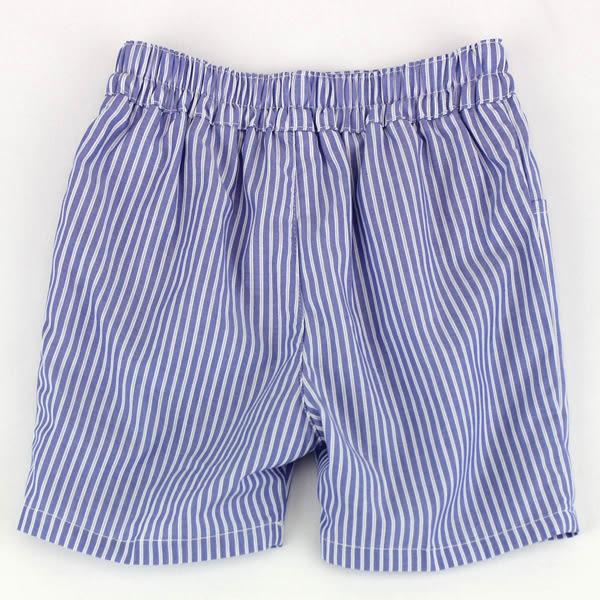 【愛的世界】純棉直條紋五分褲/2~3歲-台灣製- ★春夏下著