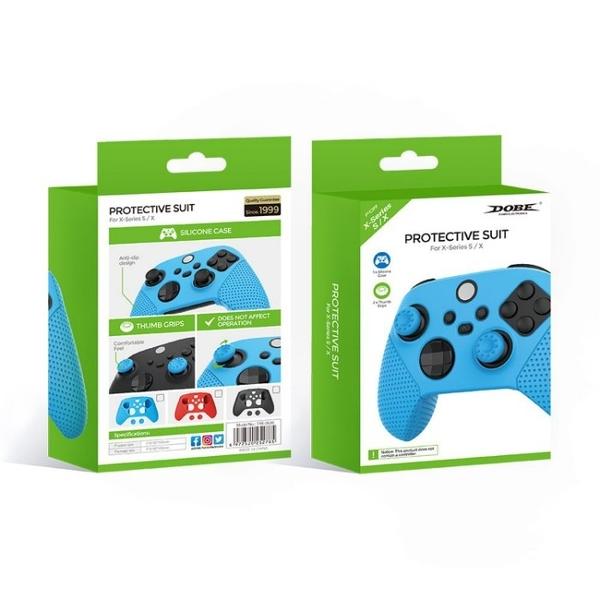 [哈GAME族]滿399免運 可刷卡 藍色/黑色/紅色 可選 DOBE TYX-0626 Xbox Series S/X 手把保護套+蘑菇頭套