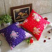 小抱枕 - 傳統印花*兩款 [台灣花布 透氣 蓬鬆柔軟] MIT台灣製