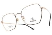 SEROVA 光學眼鏡 SL376 C7 (黑-玫瑰金) 金屬復古造型款 眼鏡框 #金橘眼鏡