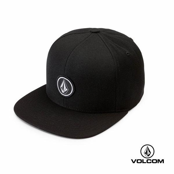 VOLCOM QUARTER TWILL 厚棉圓標LOGO鴨舌帽(男款)-黑