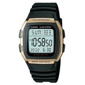 【CASIO】 輕運動時代電子錶-金框(W-96H-9A)