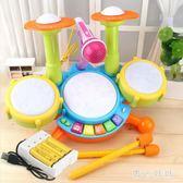 兒童架子鼓玩具電子鼓敲打爵士鼓寶寶初學者樂器男孩女孩1-3-6歲 aj7188『黑色妹妹』